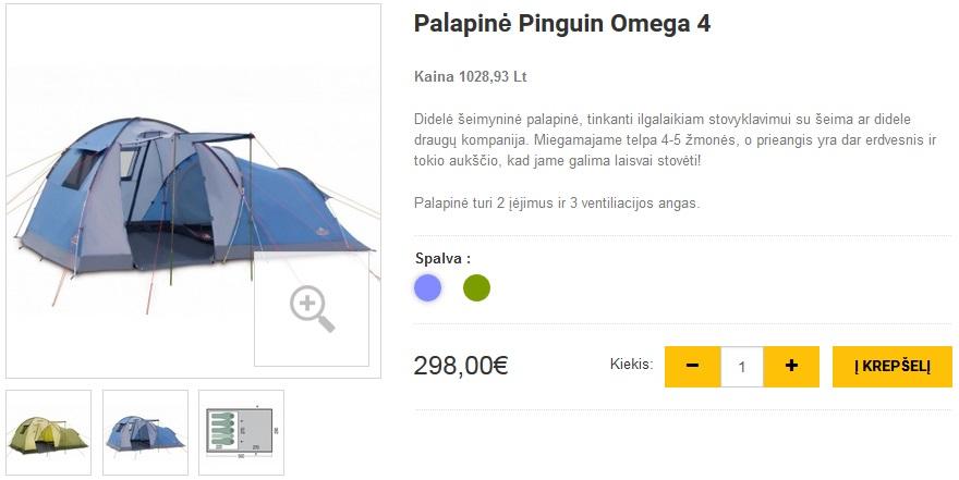 Palapinė Pinguin Omega 4