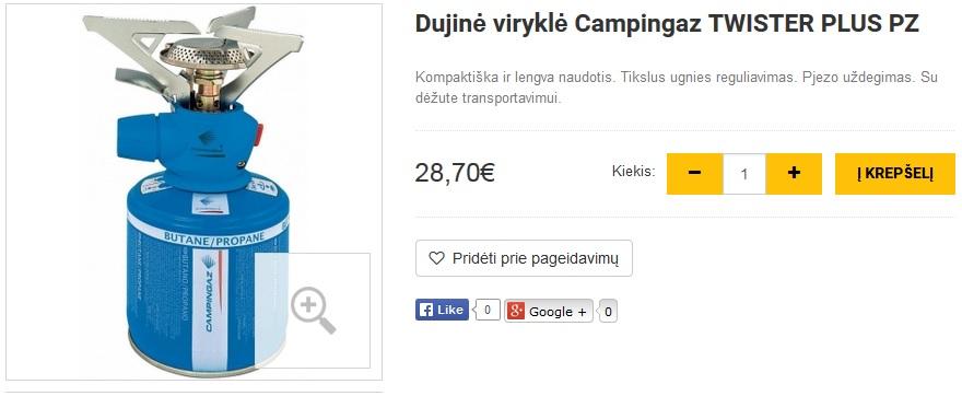 Dujinė viryklė Campingaz TWISTER PLUS PZ
