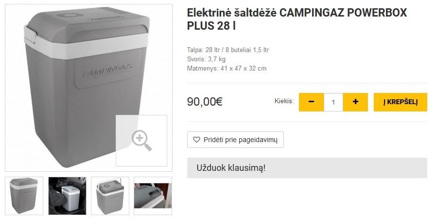 Elektrinė šaltdėžė CAMPINGAZ POWERBOX PLUS 28 l