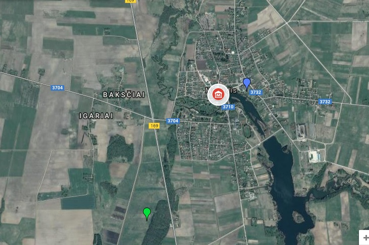 Into akmenų muziejus žemėlapis
