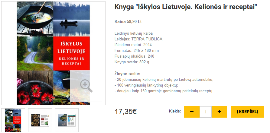 """Knyga """"Iškylos Lietuvoje. Kelionės ir receptai"""""""