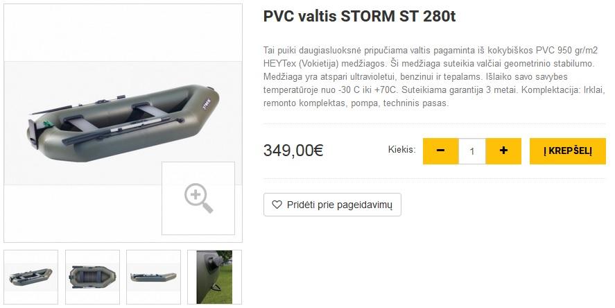 PVC valtis STORM ST 280t