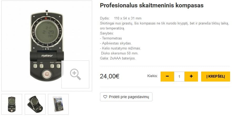 Profesionalus skaitmeninis kompasas