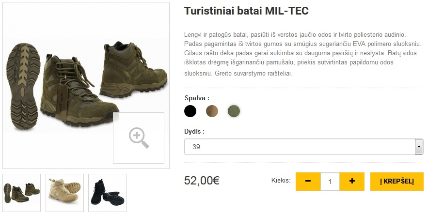 Turistiniai batai MIL-TEC