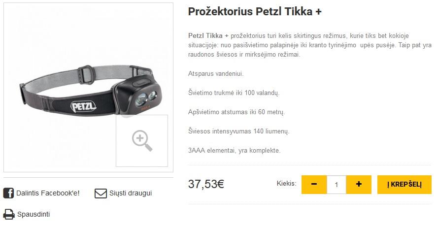 Prožektorius Petzl Tikka +