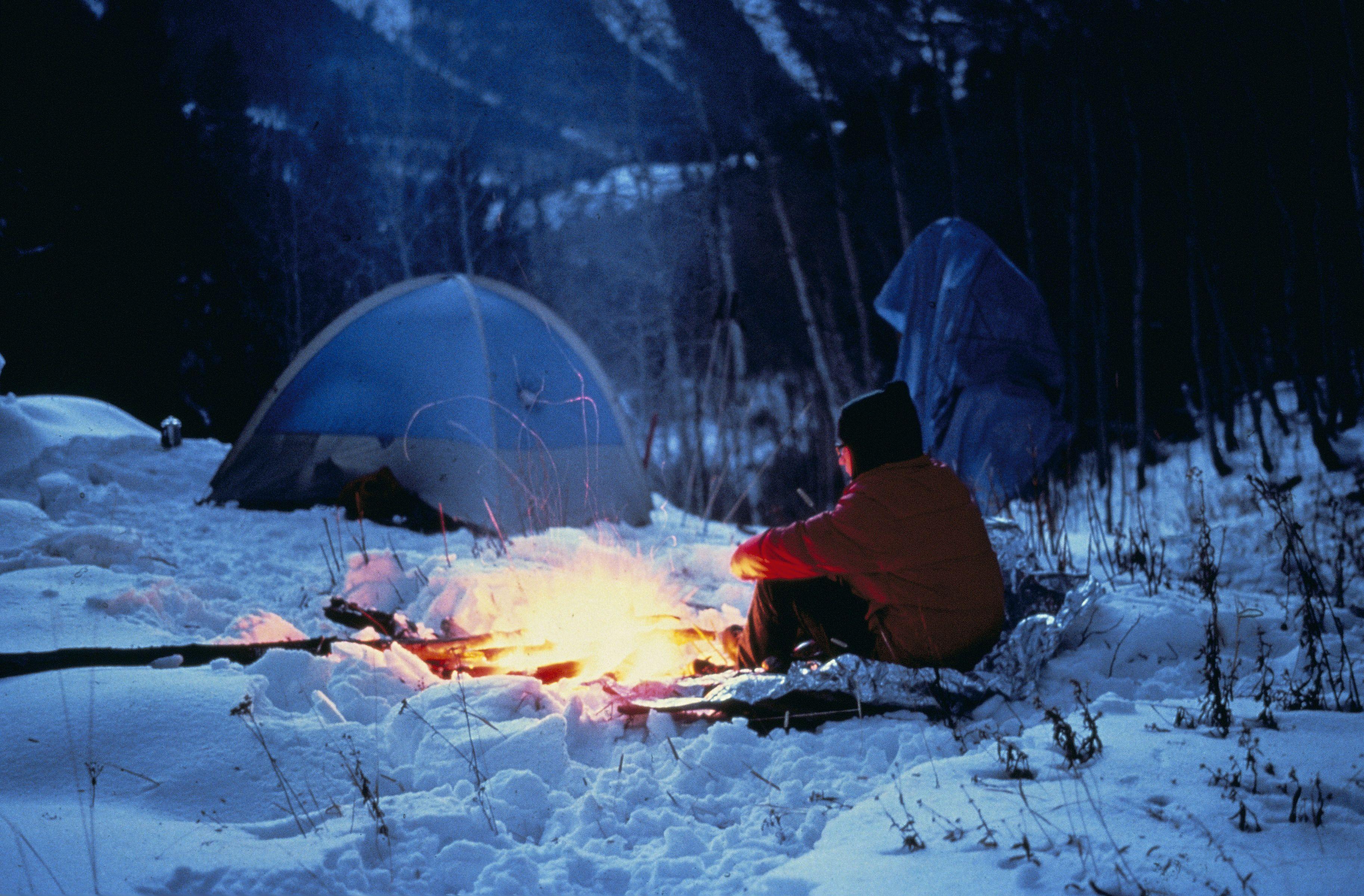 stovyklavimas žiemą