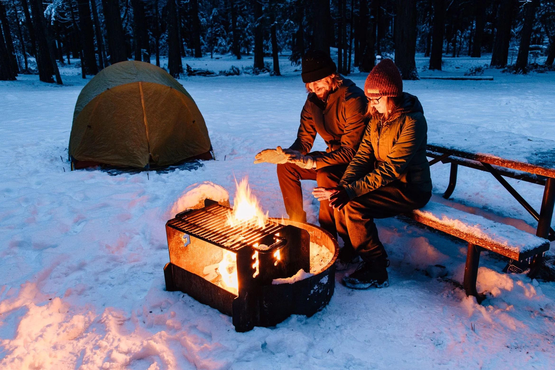 žiema stovyklavimas
