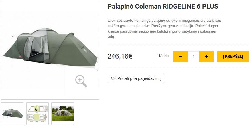 Palapinė Coleman RIDGELINE 6 PLUS