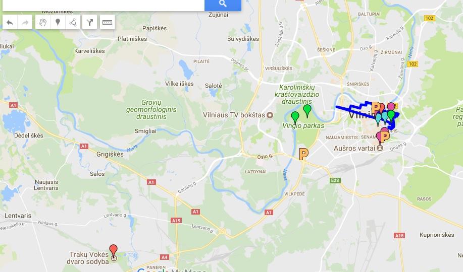 Trakų Vokės dvaras žemėlapis
