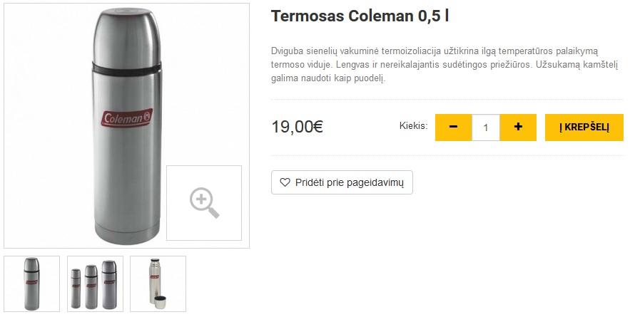 Termosas Coleman 0,5 l