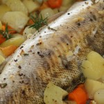žuvis su daržovėmis folijoje 2