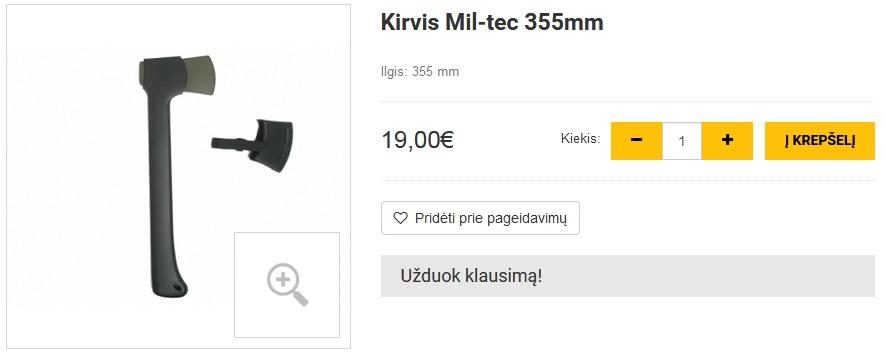 Kirvis Mil-tec 355mm