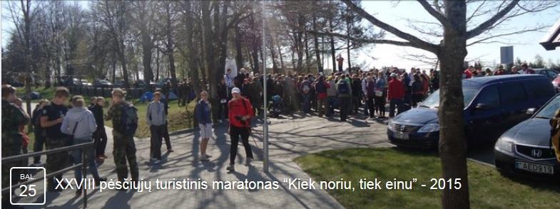 """Pėsčiųjų maratonas """"Kiek noriu tiek einu"""""""