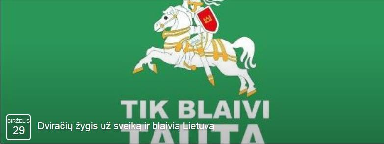 Dviračių žygis už sveiką ir blaivią Lietuvą