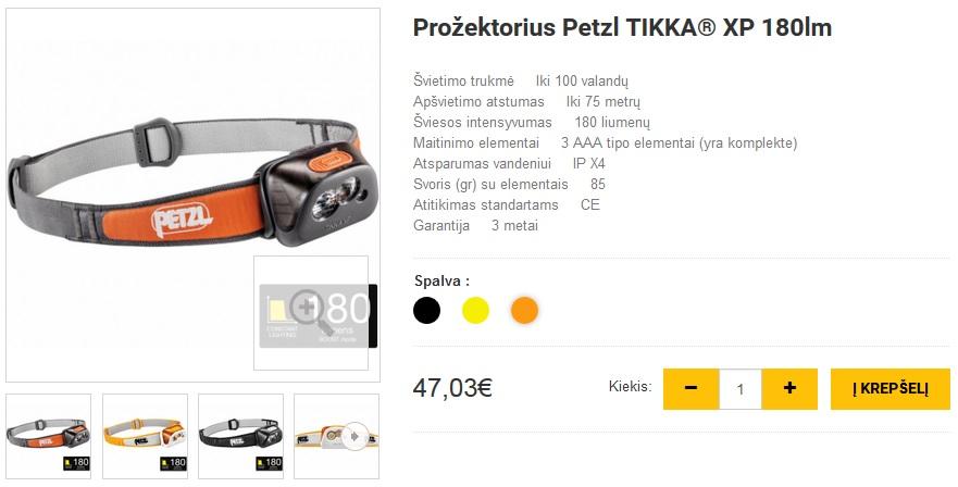 Prožektorius Petzl TIKKA® XP 180lm