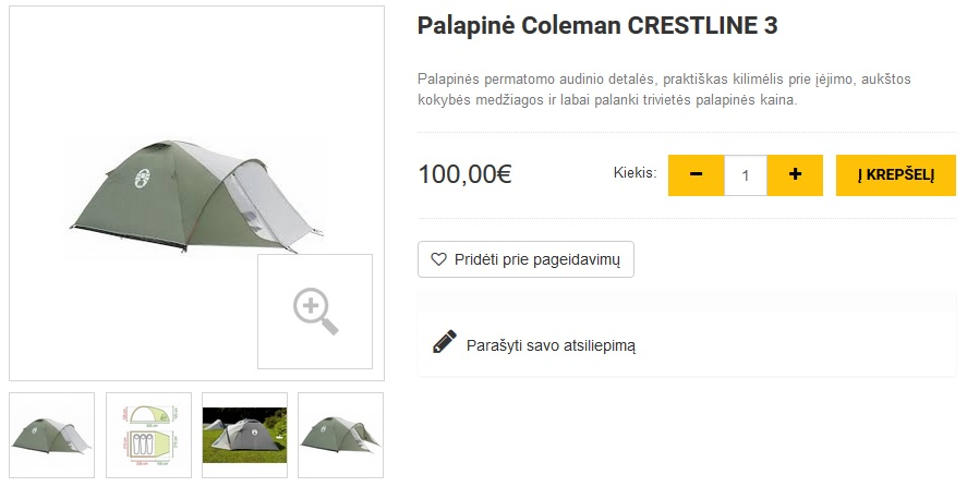 Palapinė Coleman CRESTLINE 3