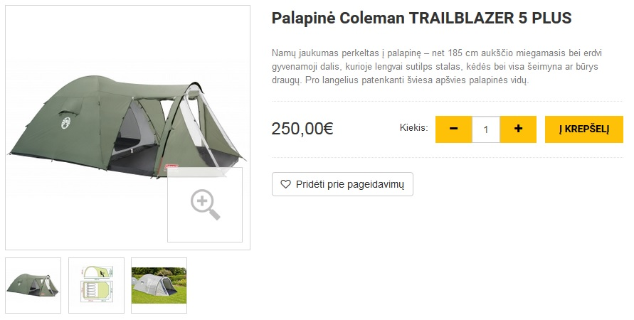 Palapinė Coleman TRAILBLAZER 5 PLUS