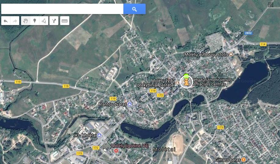 Molėtų TIC žemėlapis
