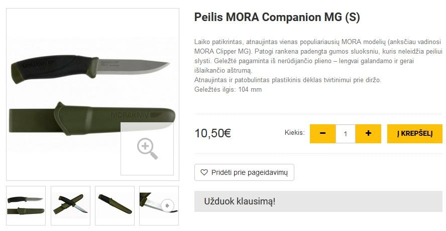 Peilis MORA Companion MG