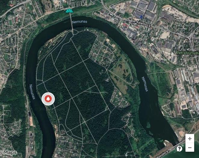 Panemunės šilo parkas žemėlapis