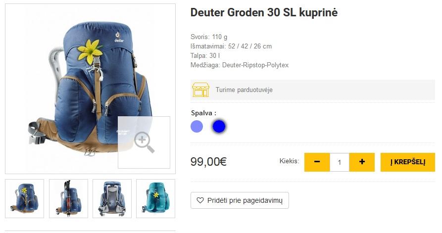 Deuter Groden 30 SL kuprinė