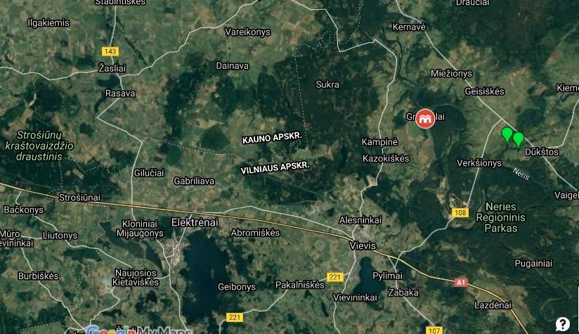 Grabijolų kaimas žemėlapis