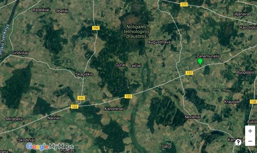 Struvės geodezinis lankas žemėlapis