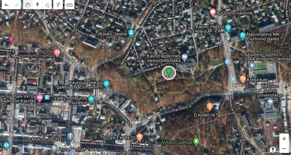 Armenų chačkaras žemėlapis