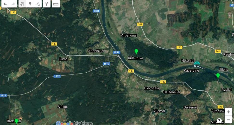 Kulautuva žemėlapis