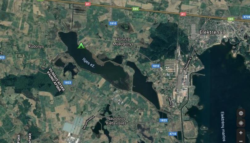 Vigio brasta Žemėlapis