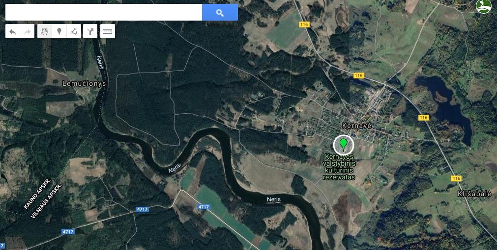 Kernavė žemėlapis
