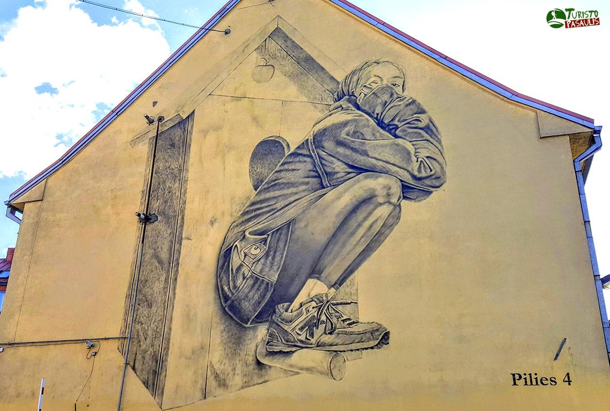 Graffiti Inkilas ir mergina