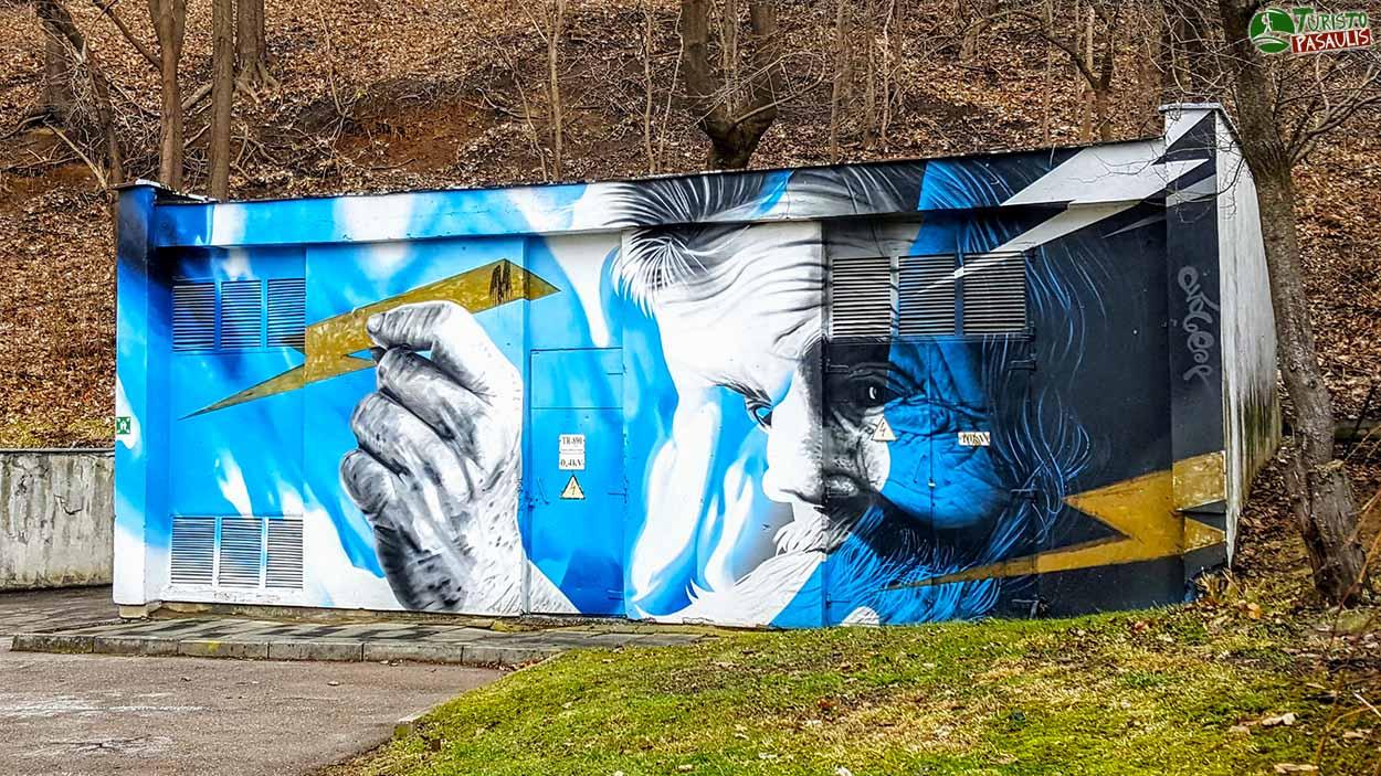 Kaunas graffiti - Kultūringas perkūnas