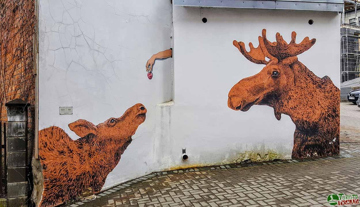 Kaunas graffiti - Briedžiai
