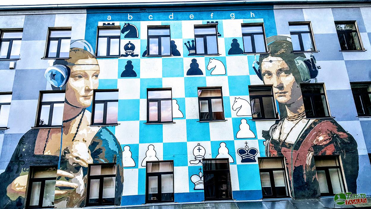 Kaunas graffiti Šachmatai
