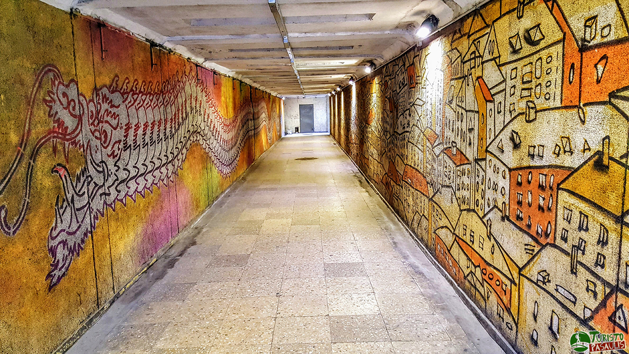 Kaunas graffiti Birštono K.Mindaugo požeminė perėja