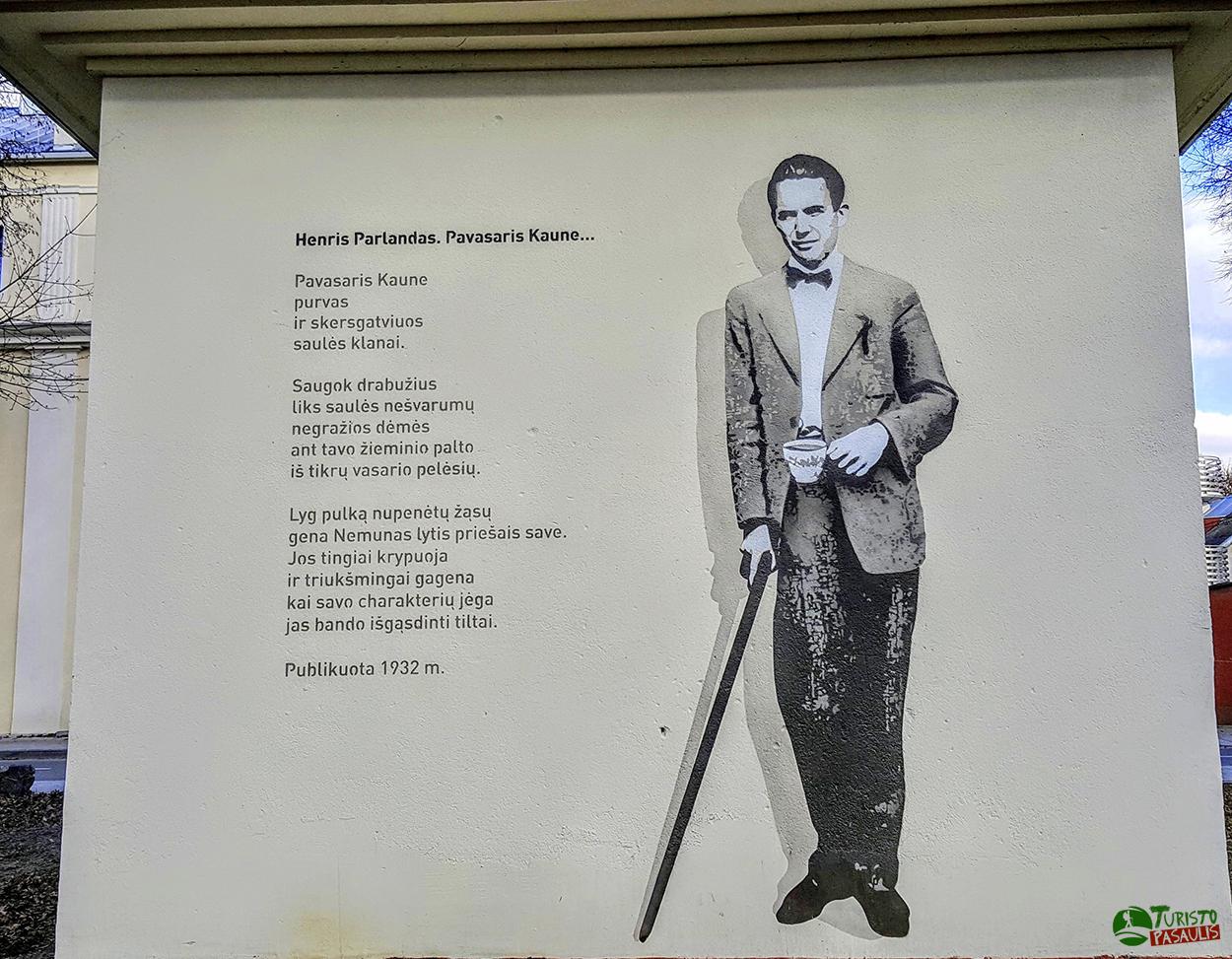 Kaunas graffiti Henris Parlandas