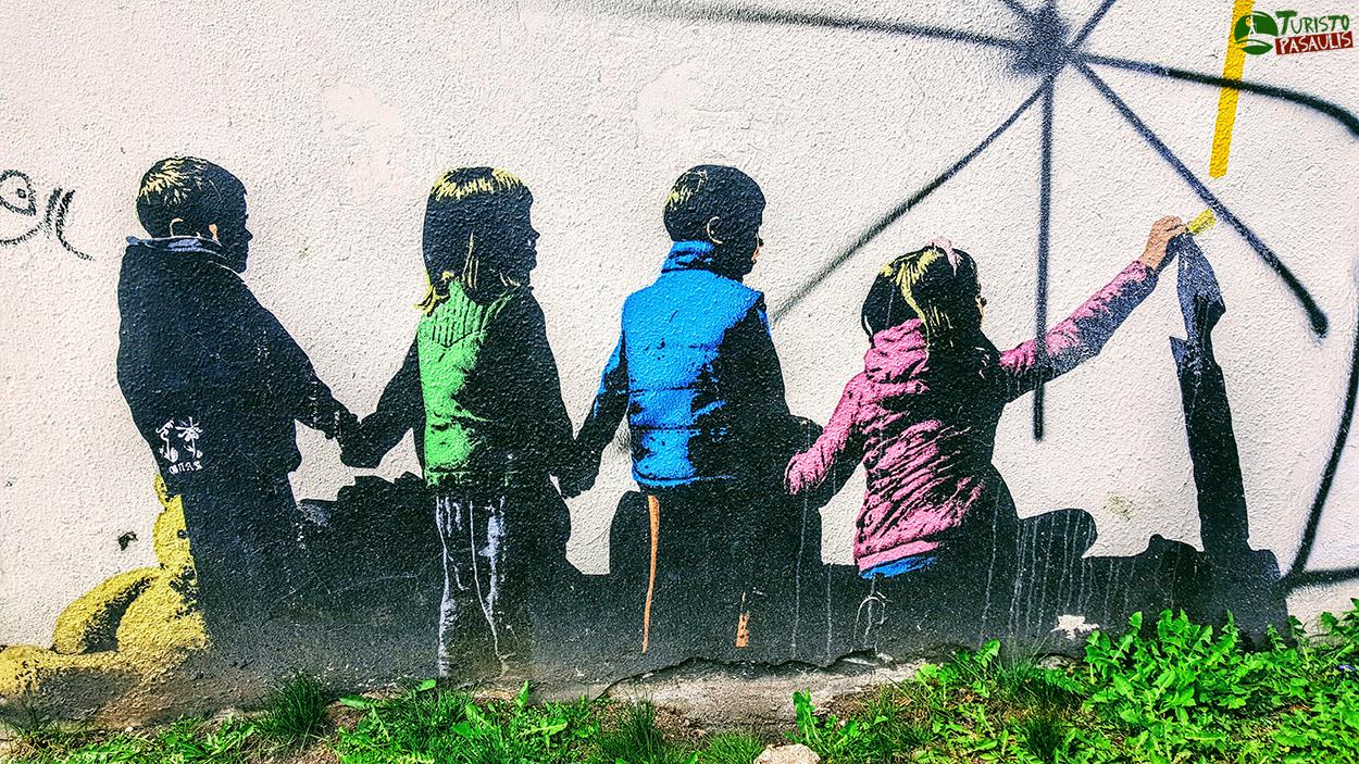 Kaunas graffiti Vaikai