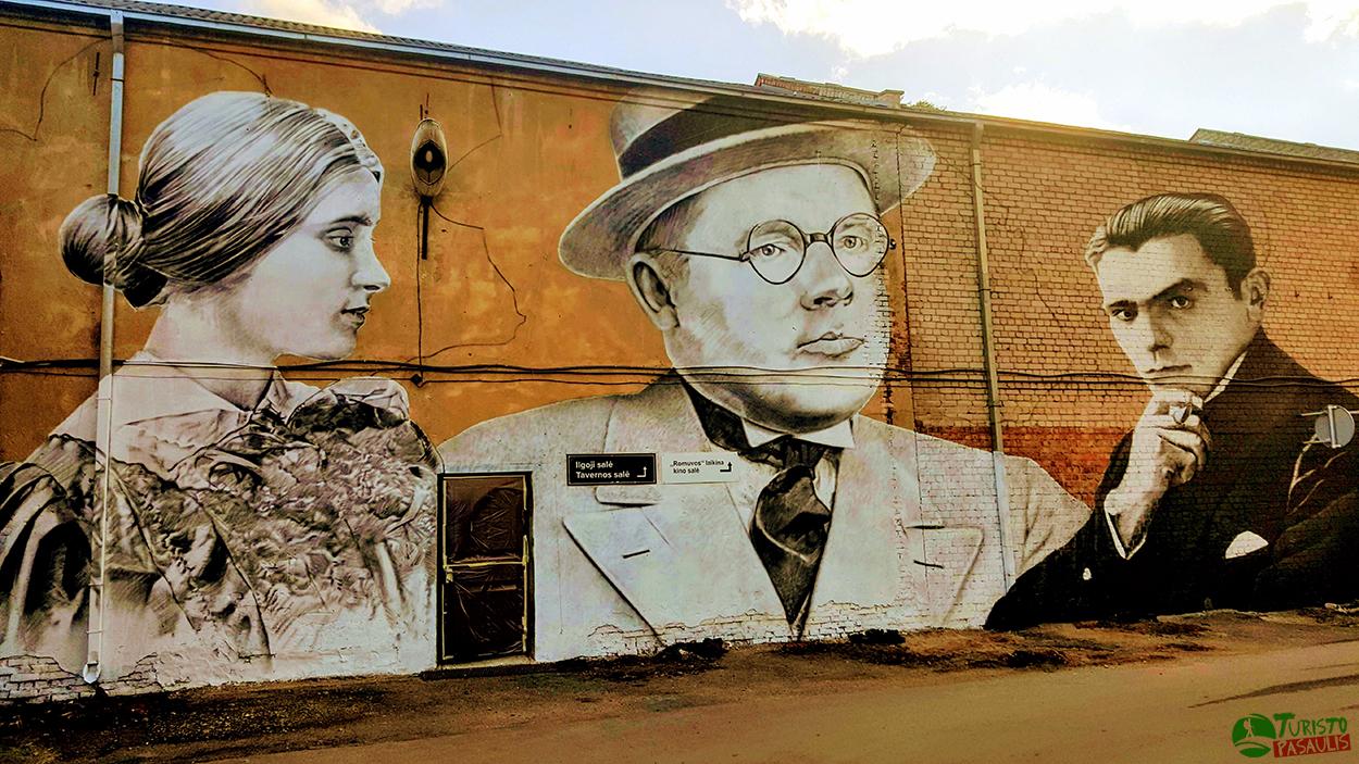 Kaunas graffiti Prie dramos teatro