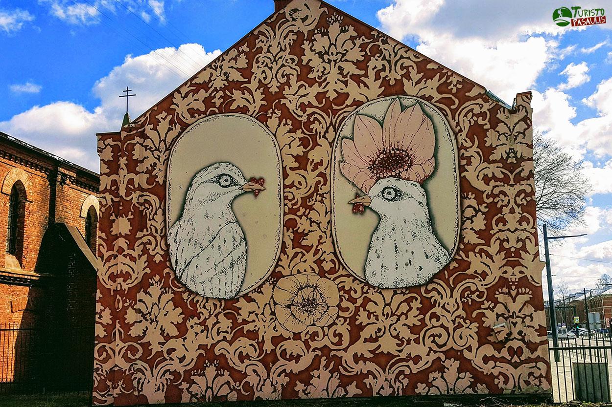 Graffiti Kaunas Jis ir ji