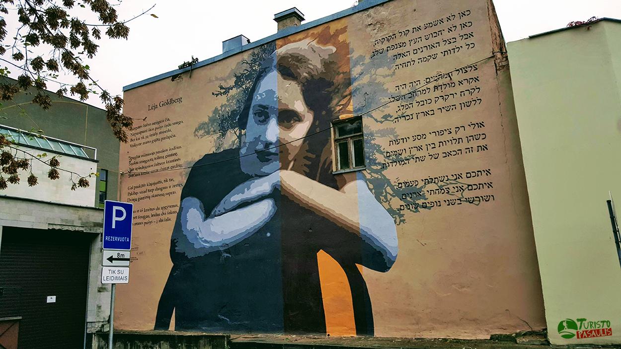 Kaunas graffiti Lea Goldberg
