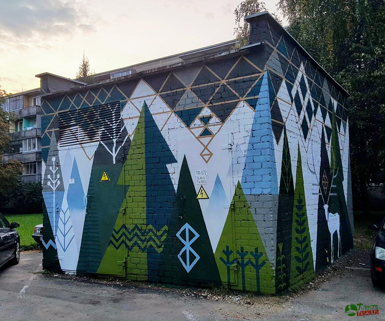 Kaunas graffiti Miškas