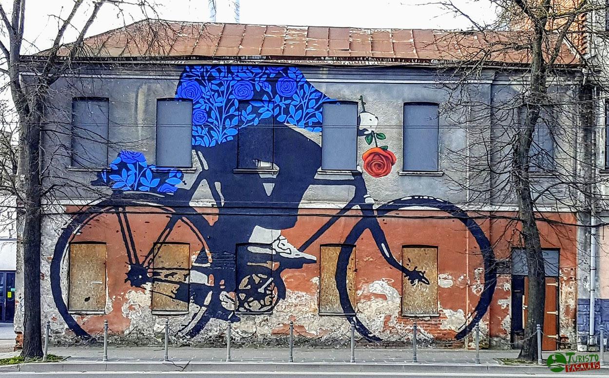 Graffiti Kaunas Dviratininkas