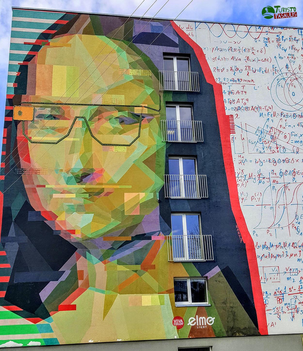 Graffiti Kaunas Mona Liza
