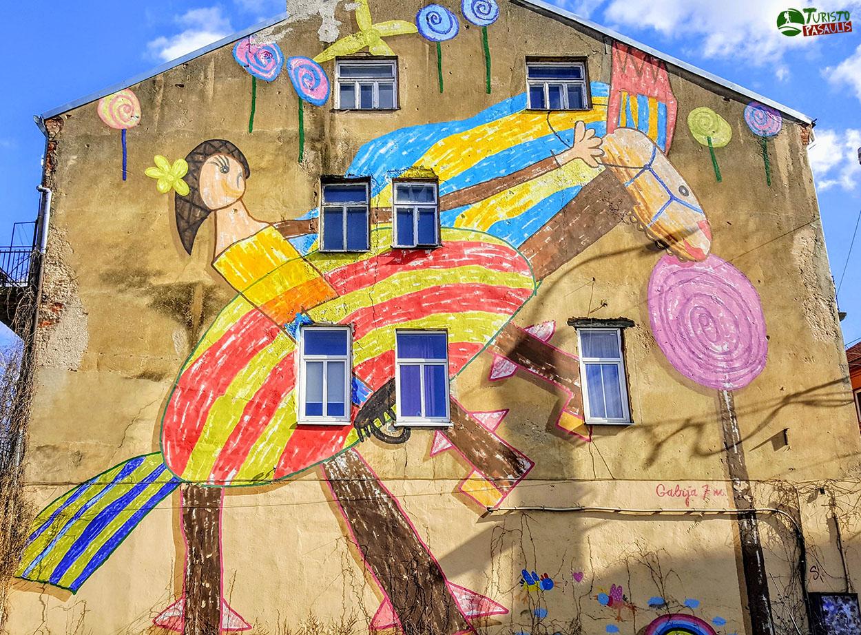 Graffiti Kaunas Laiminga vaikystė