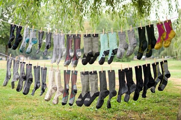 sukabintos kojinės
