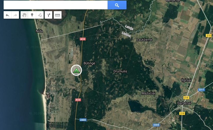 Sea paradise stovyklavietė žemėlapis